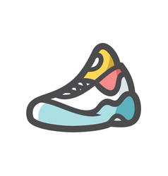 sneaker running shoe icon cartoon vector image