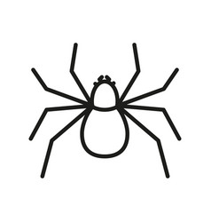 spider outline icon insect symbol vector image