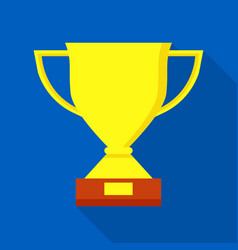sport trophy icon flat style vector image
