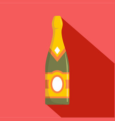 Sweet champagne icon flat style vector