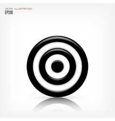 Target icon Business aims concept vector