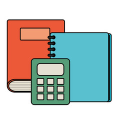 text book school with calculator math vector image