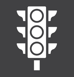 Traffic light glyph icon stoplight and navigation vector