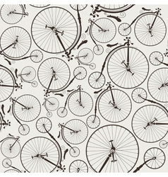 vintage bicycle seamless vector image