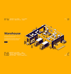 warehouse storage logistic infrastructure vector image