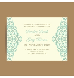 wedding card vintage elem vector image