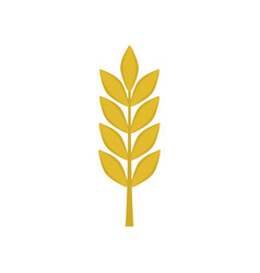 wheat icon in flat design vector image