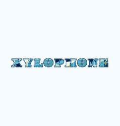 Xylophone concept word art vector