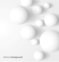 Abstract 3D white spheric background vector image