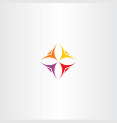 business logo icon people team vector image