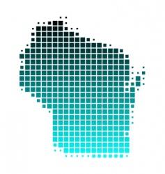 map of Wisconsin vector image vector image