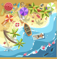 relax on sea beach people on resort vector image