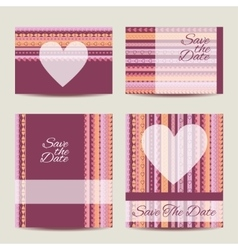 Save the date card set vector image vector image