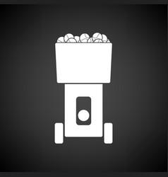 tennis serve ball machine icon vector image