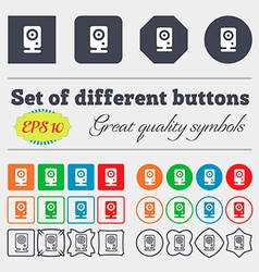 Web cam icon sign Big set of colorful diverse vector image vector image