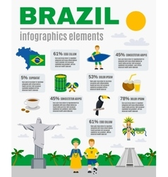 Brazilian Culture Infographic Elements Poster vector image vector image