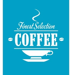 Finest selection coffee banner vector image vector image