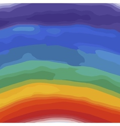 Rainbow colors watercolor background vector image vector image