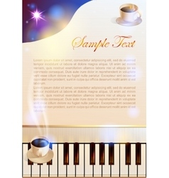 Coffee and Piano vector image