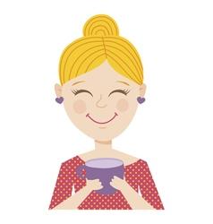 coffee girl vector image vector image