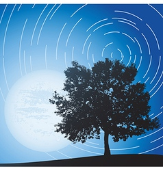 Moon and sky vector image