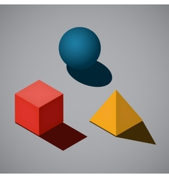 Simple geometrical shapes vector image