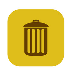 color square with trash container icon vector image