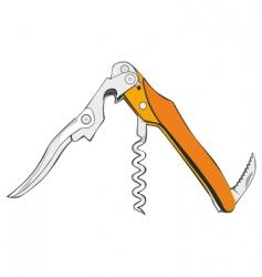 cork screw vector image vector image
