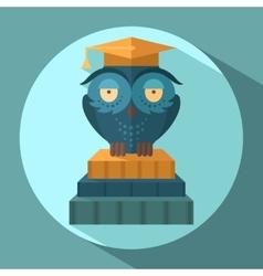 Owls in graduation cap vector image