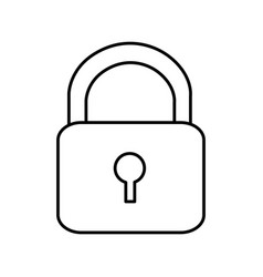 silhouette lock close icon vector image vector image