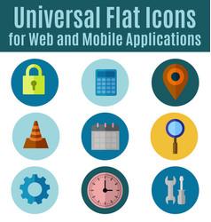 web flat icon vector image vector image