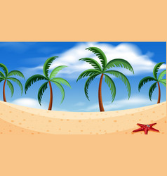 a simple beach scene vector image