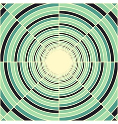 Abstract deep green tube light at end of tunnel vector