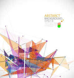 Abstract mesh colorful background lines and shapes vector image