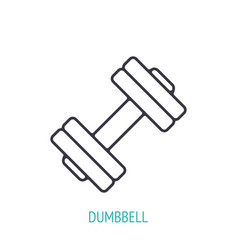Adjustable dumbbell outline icon vector