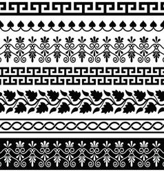 Ancient greek pattern - seamless set designs vector