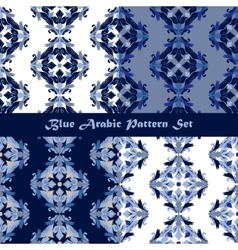 Arabic seamless pattern set vector