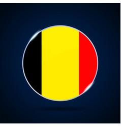 Belgium national flag circle button icon simple vector