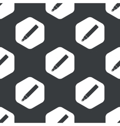 Black hexagon ink pen pattern vector image