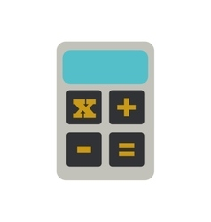calculator finance objetc office vector image