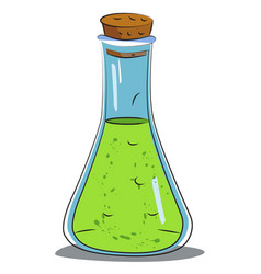 Cartoon image of chemical reaction vector