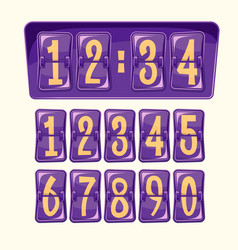 Cartoon numeral alphabeth vector
