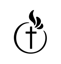 Christian logo emblem with vector