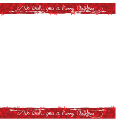 christmas frame with lettering vector image