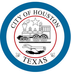 coat arms houston in texas in united states vector image