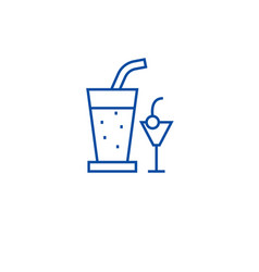 Cocktail drinks line icon concept cocktail drinks vector