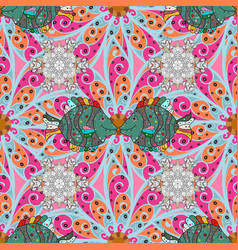 colour summer theme seamless pattern background vector image