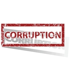 CORRUPTION outlined stamp vector