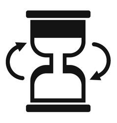 Cursor loading icon simple black style vector