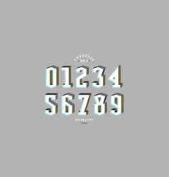 decorative serif bulk numerals for logo and title vector image